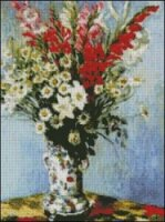Bouquet of Gladiolas, Lilies and Daisies