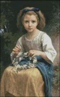 Girl making a Wreath
