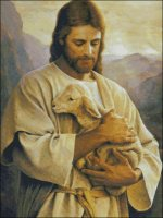 Jesus with Lamb - Large