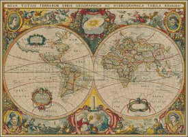 Map of the World in 1630 - Large