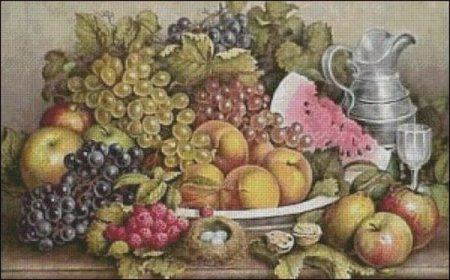 Exported Pattern Photo of A Dessert of Fruit